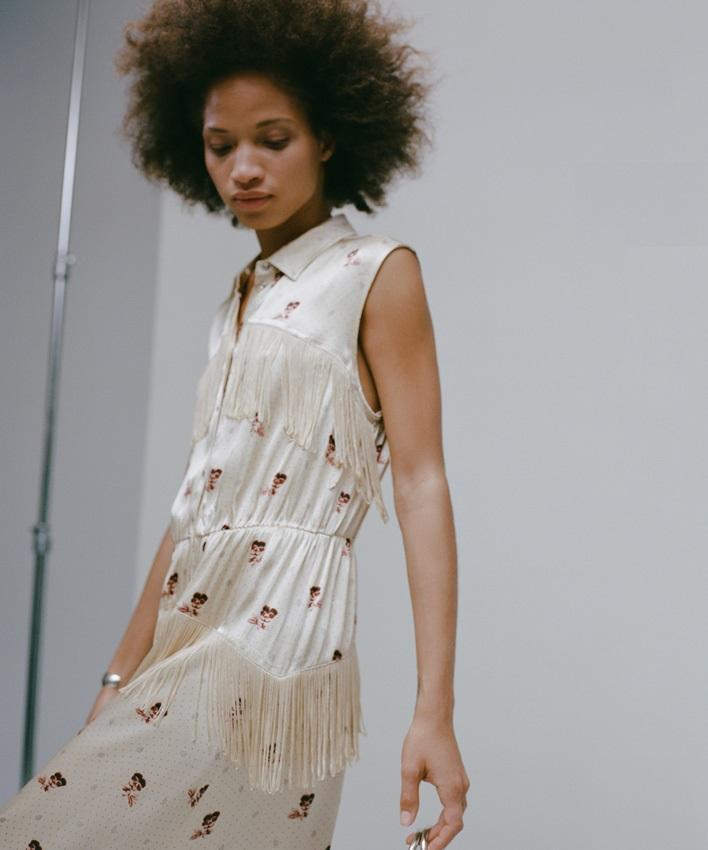Ganni Donnelly Dress in Biscotti