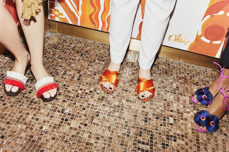 Gianvito Rossi Barth Satin Slide Sandals