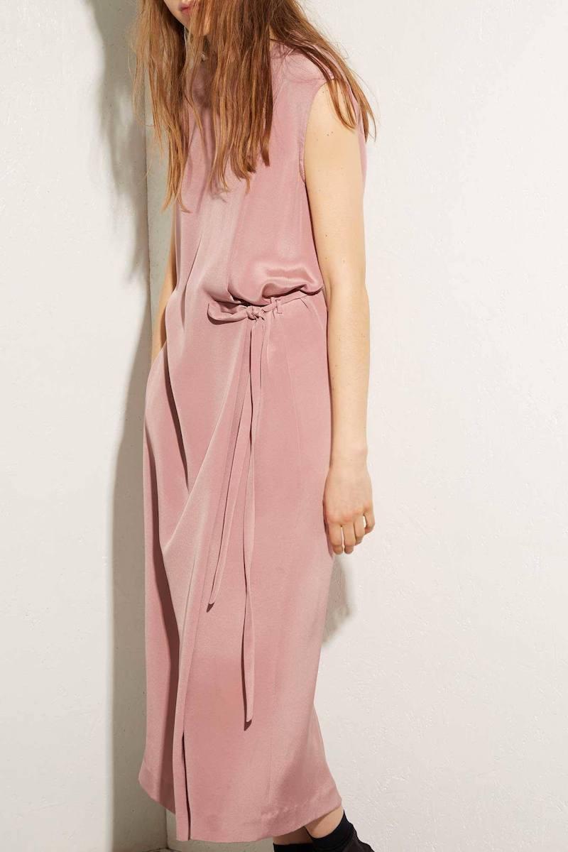 Raey Hidden-Belt Pleat-Front Silk Dress