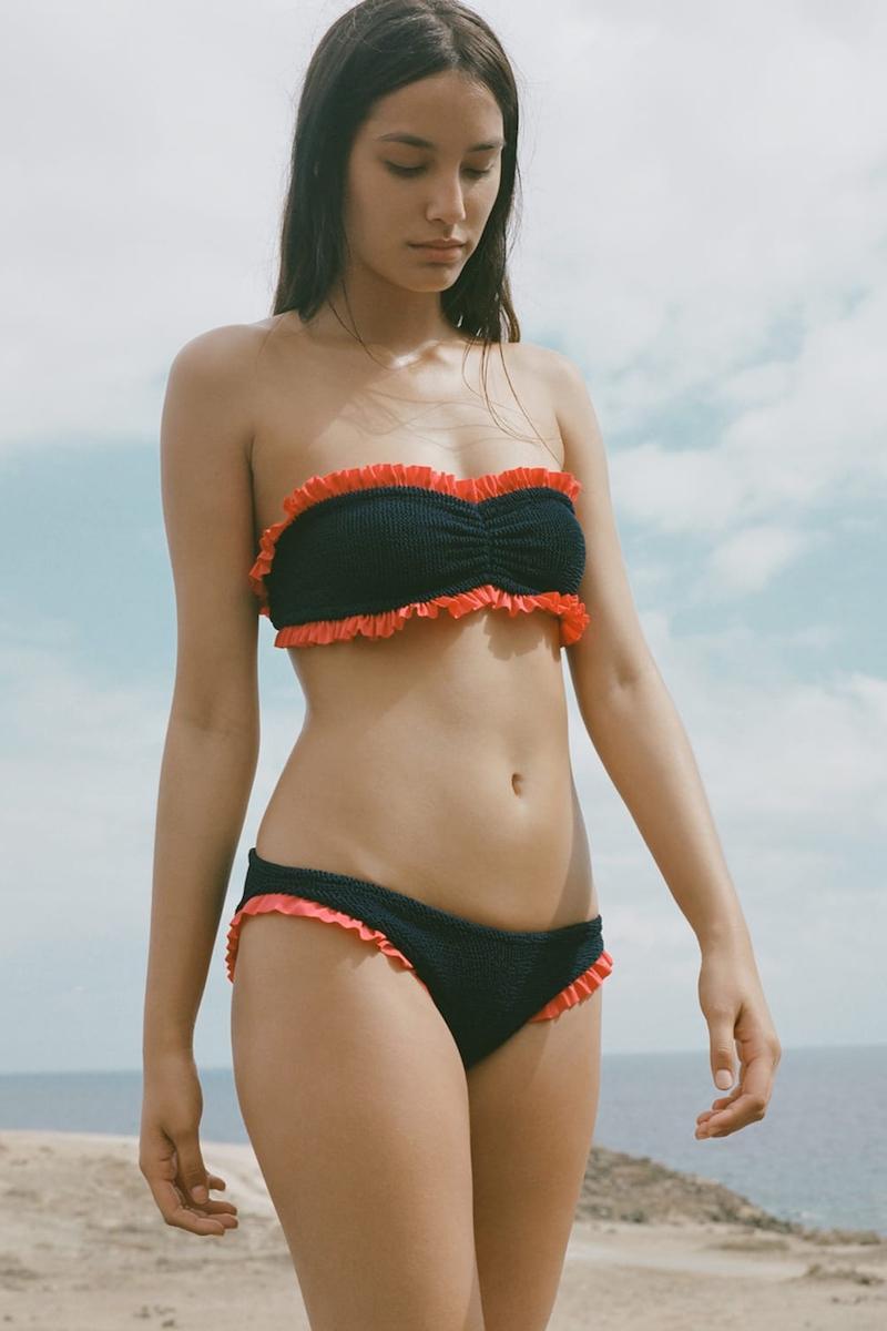 Hunza G Lucille Frill Bandeau Bikini