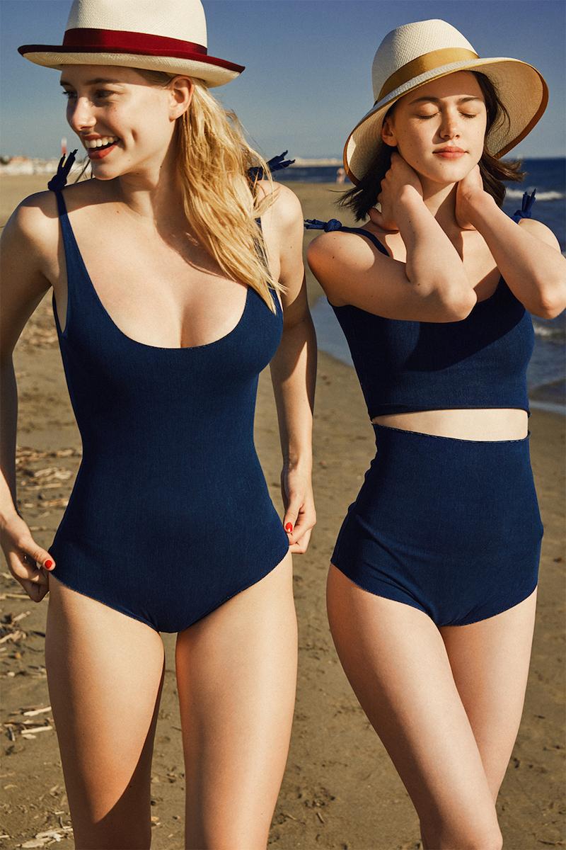 Isole & Vulcani Cotton Denim Lycra Blend Bikini