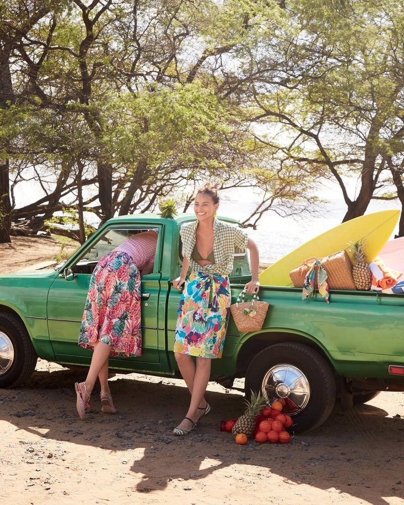 J.Crew Tie-Waist Skirt In Seaside Floral