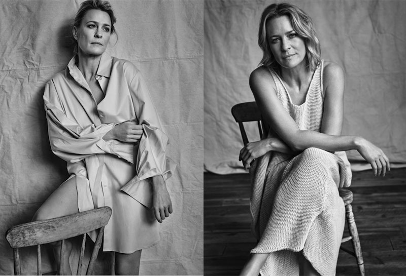 Laid Bare Robin Wright for The EDIT