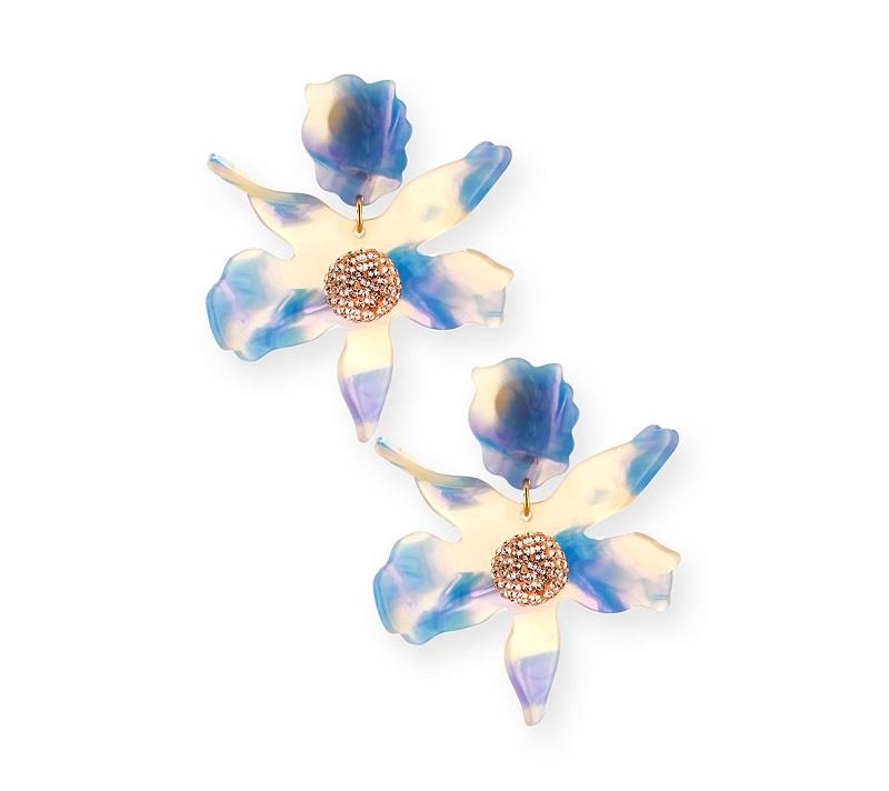 Lele Sadoughi Sculptural Crystal Lily Earrings