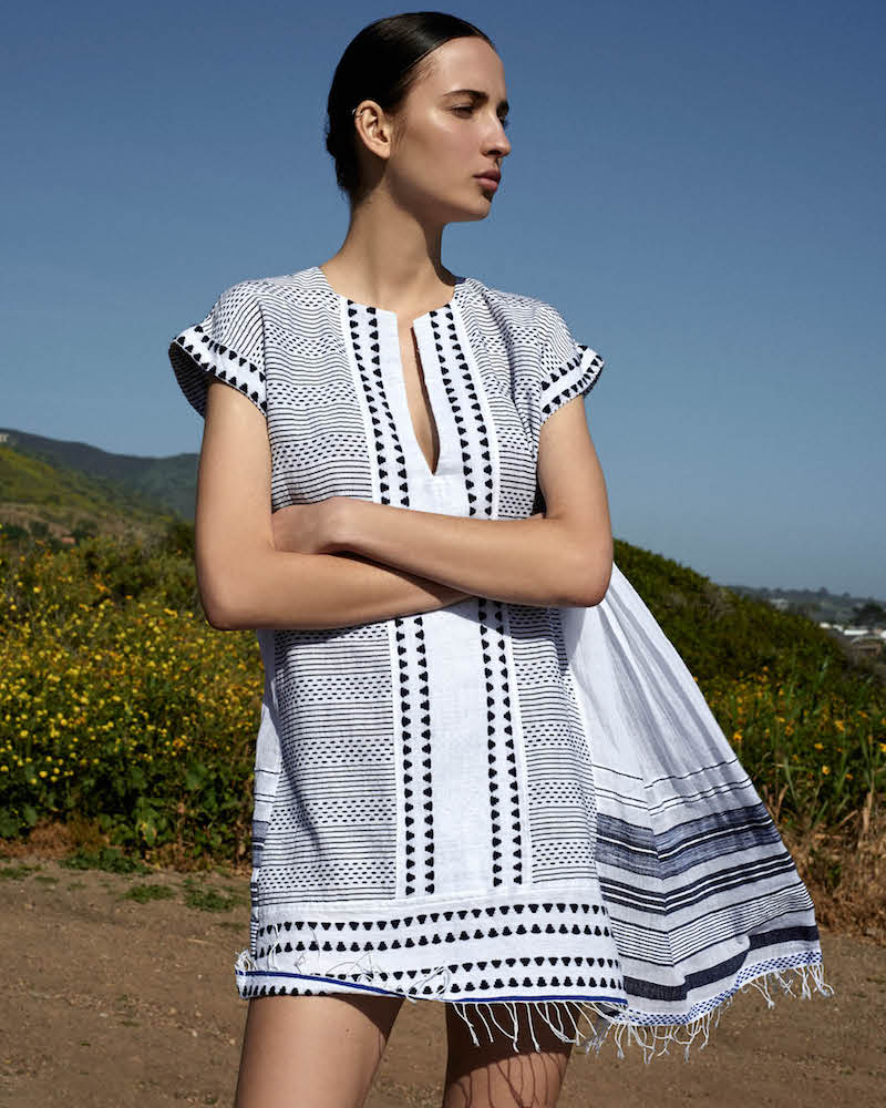 Lemlem Yeshi Woven Cotton-Blend Dress