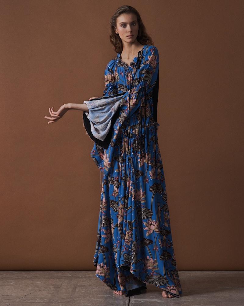 Loewe Floral-Print Off-The-Shoulder Maxi Dress