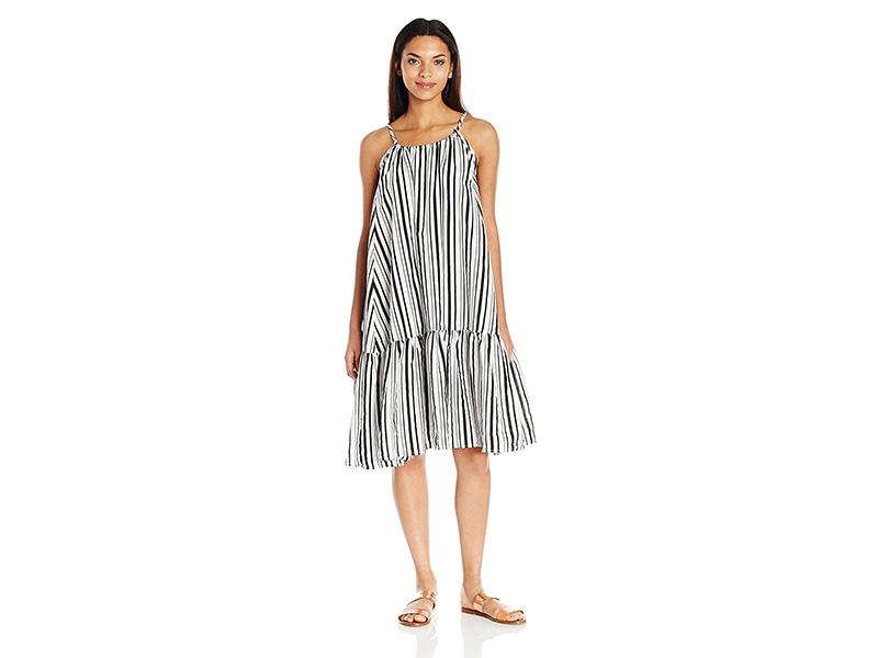 MINKPINK Riviera Getaway Stripe Swing Dress Cover up