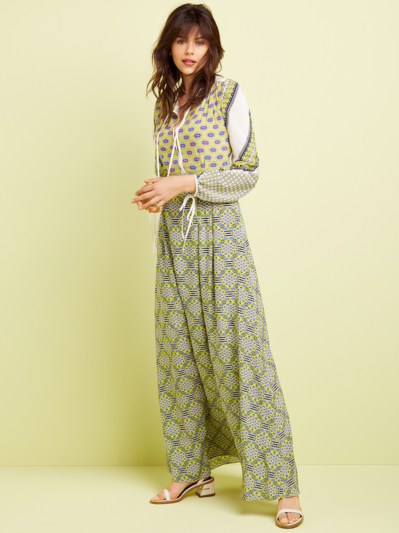 MSGM Scarf Print Maxi Dress