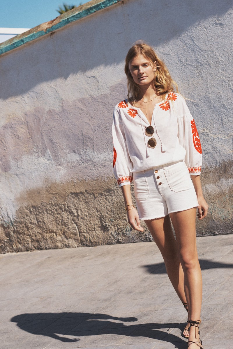 Madewell Blanca Embroidered Top