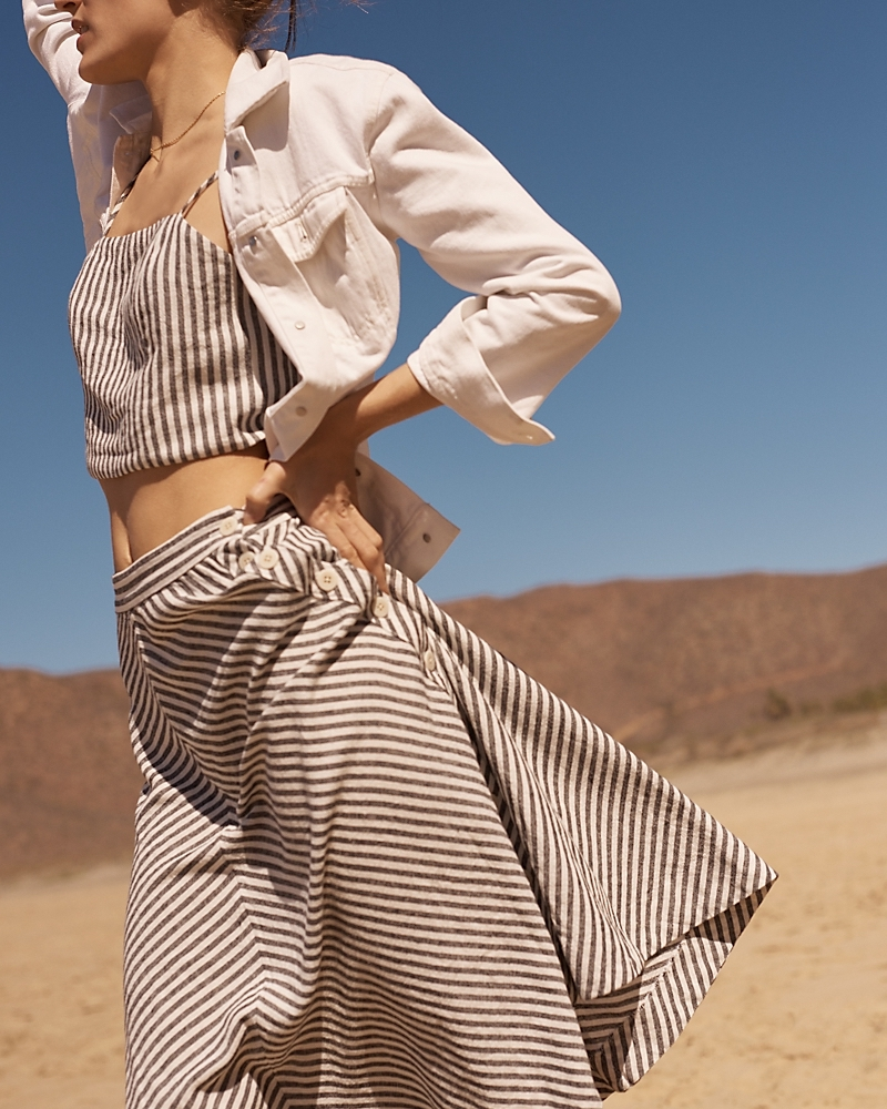 Madewell Crop Top In Rhoda Stripe