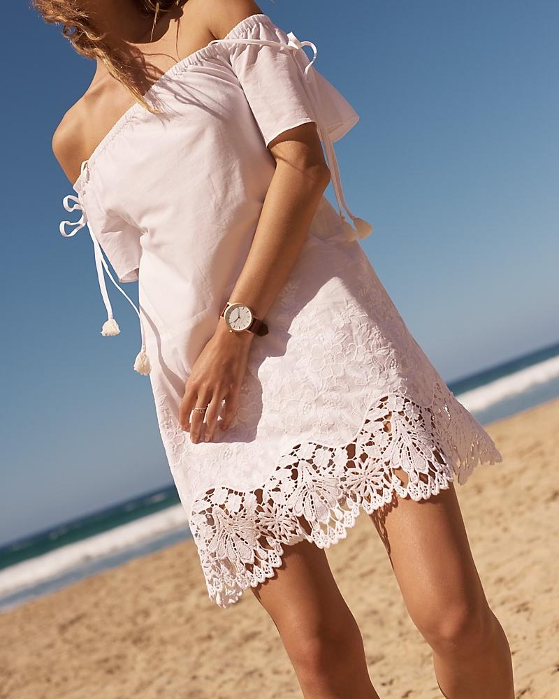 Madewell Eyelet Cold-Shoulder Dress