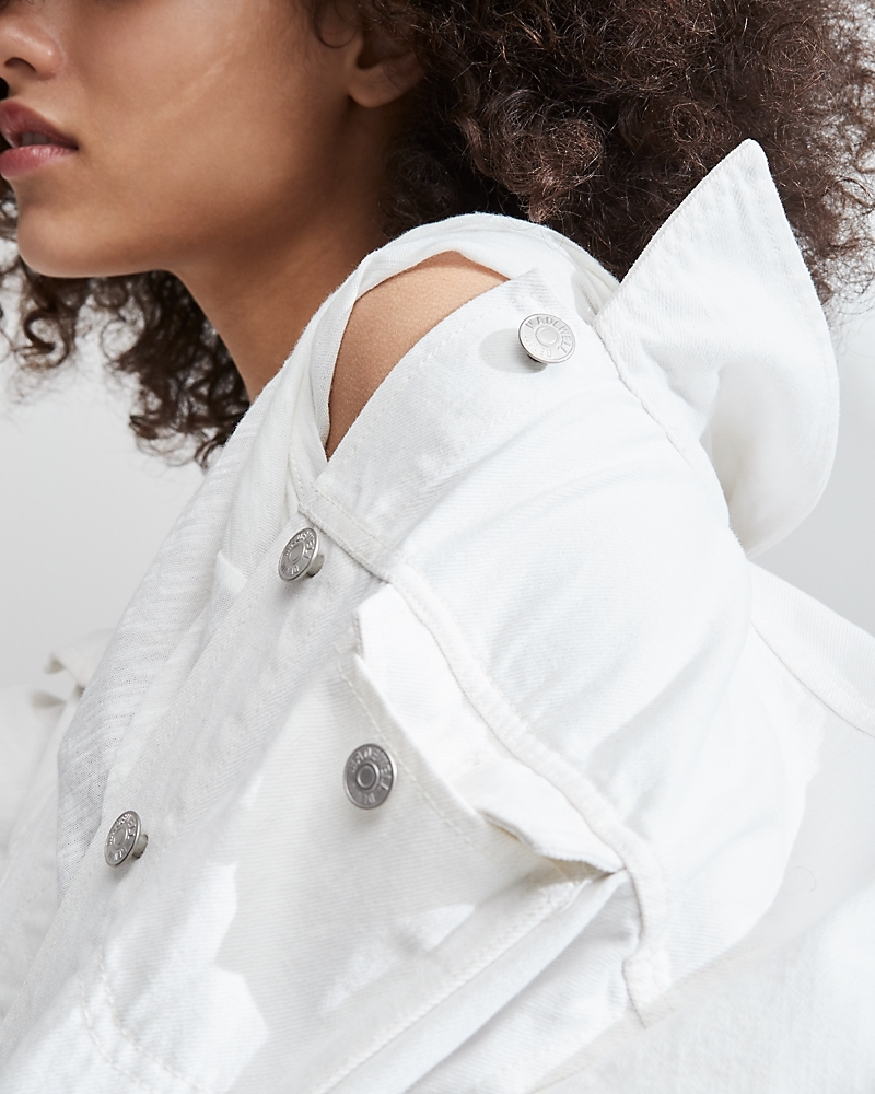 Madewell The Oversized Jean Jacket In Tile White