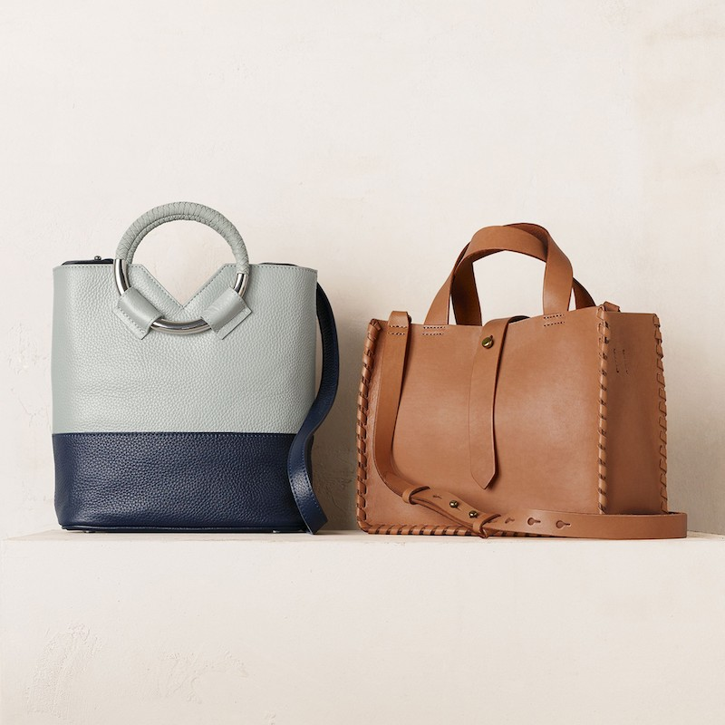 Madewell Whipstitch Mini Leather Tote Bag