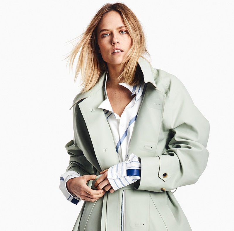 Maison Margiela Oversized waist-tie trench coat