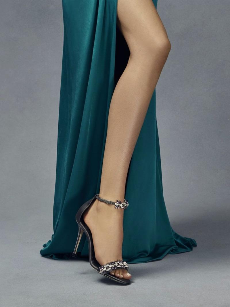Manolo Blahnik Firaduo 105 Crystal Embellished Satin Ankle-Strap Sandals