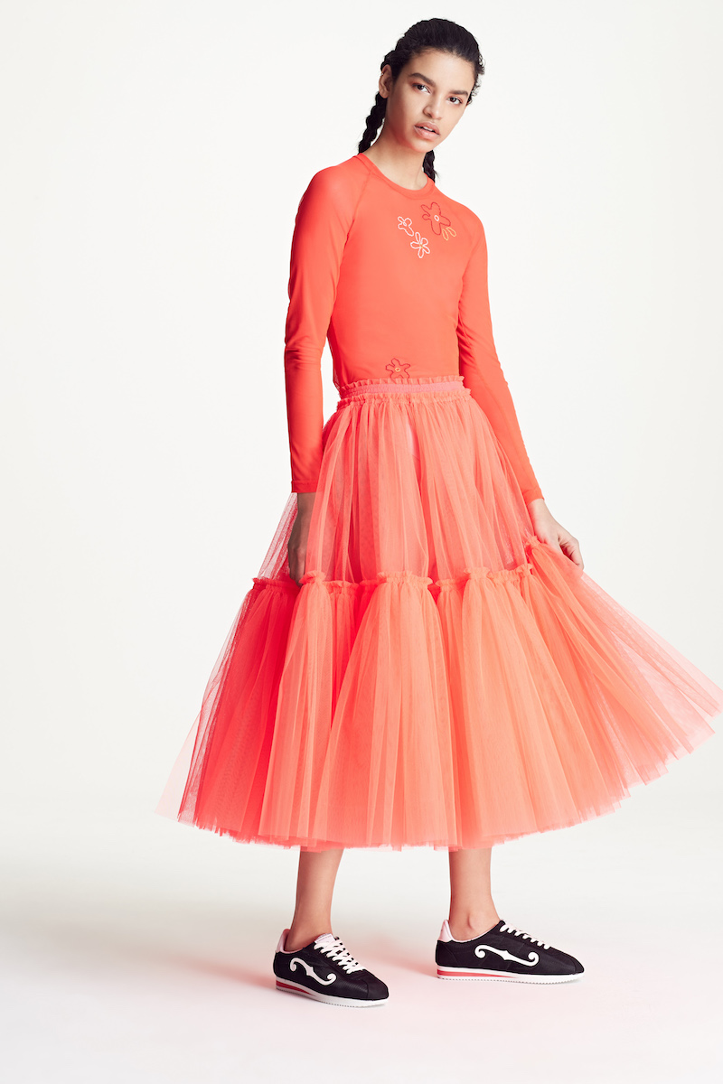 Molly Goddard Gathered Tulle Skirt