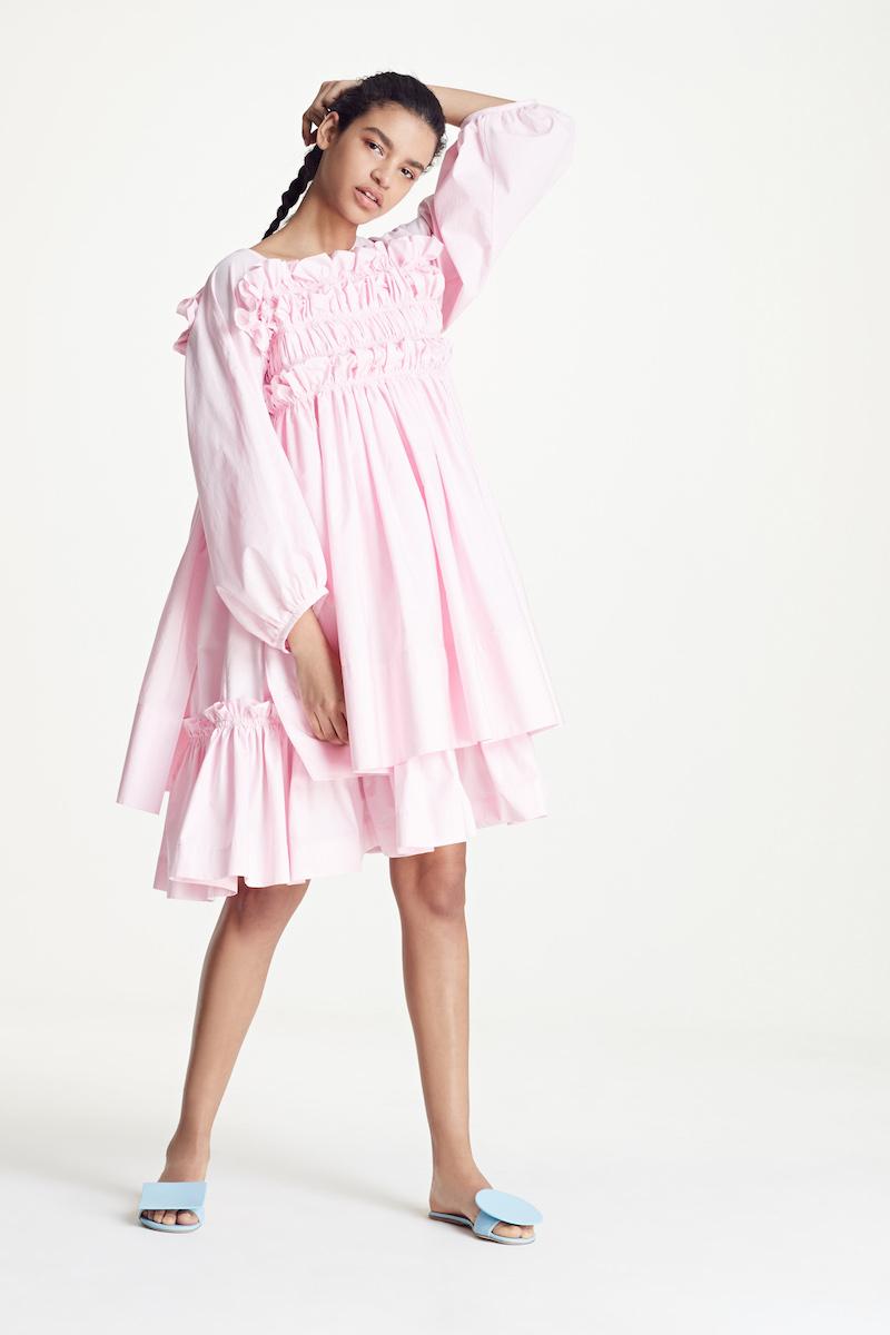 Molly Goddard Smocked Frill Dress