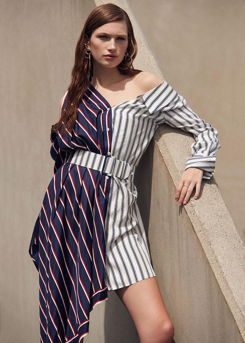 Monse Silk Twill Asymmetrical Dress