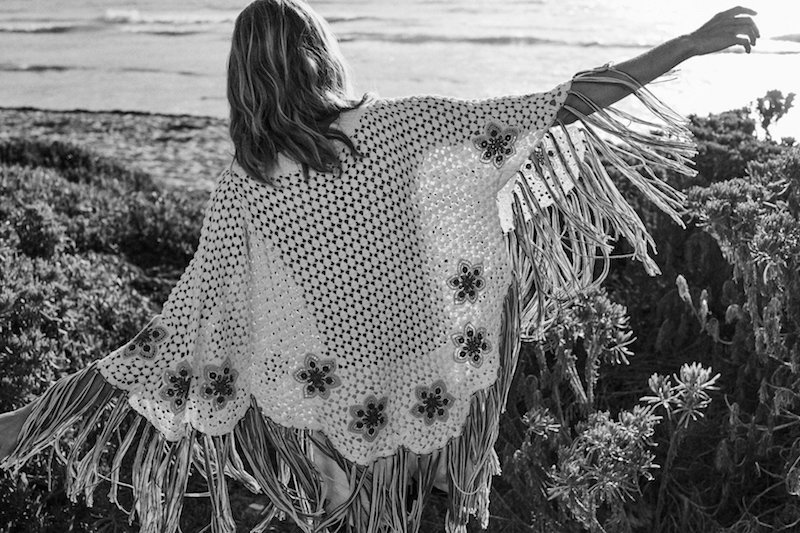 NET-A-PORTER x Chloé‏ Fringed Embroidered Crocheted Cotton Poncho