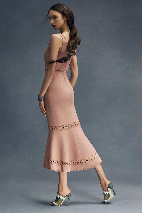 NICHOLAS Bandage Plunge Midi Dress