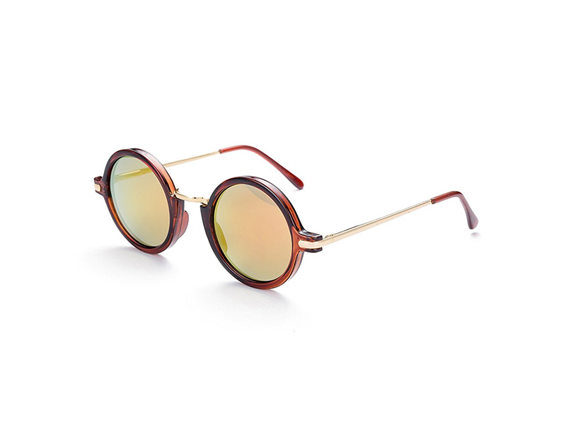 Naivo YJMH071-2 London Underground Inspired Sleek Fire Opal Sunglasses