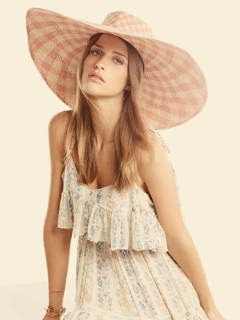 Needle & Thread Floral Stripe Layered Maxi Dress