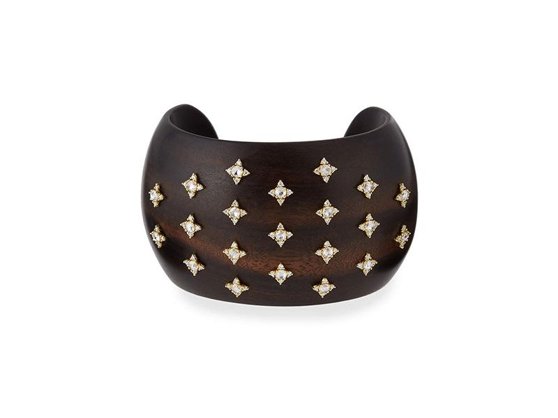 Paul Morelli Sprinkled Diamond Ebony Cuff Bracelet