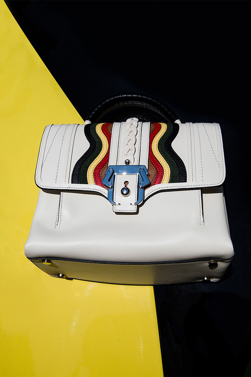 Paula Cademartori Petite Faye Rainbow Leather Bag