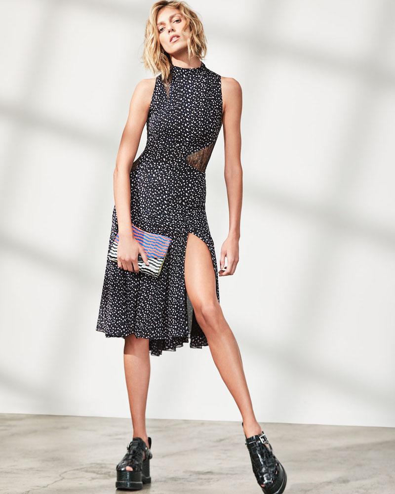 Proenza Schouler Sleeveless Mock-Neck Leopard-Print Dress