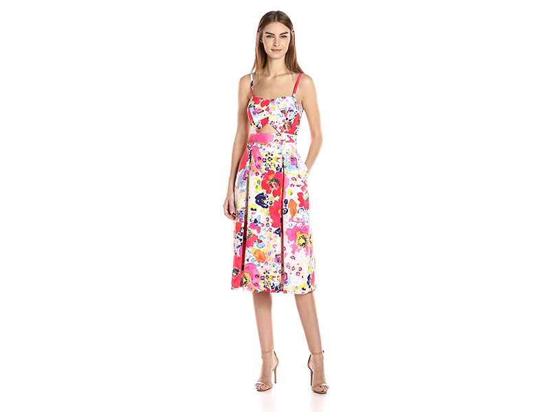 Rachel Rachel Roy Strapless Printed Fit and Flare