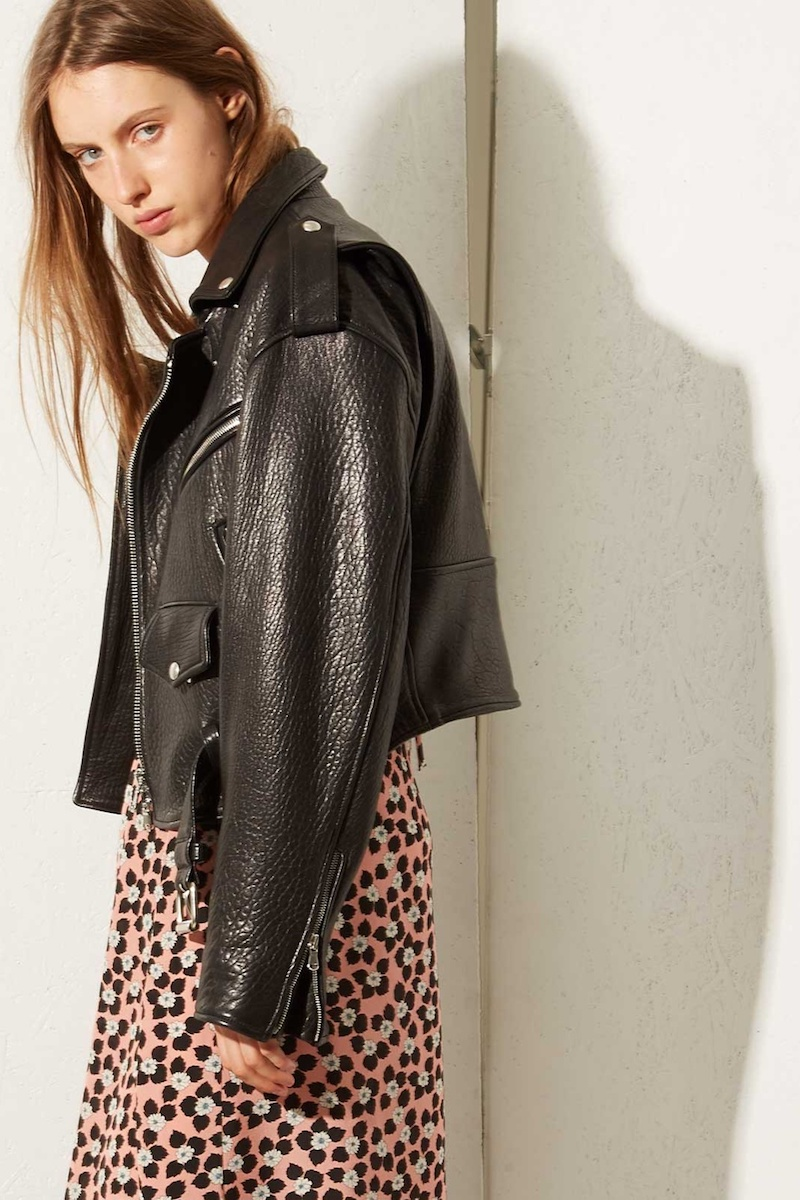 Raey Shrunken Tumbled-Leather Biker Jacket