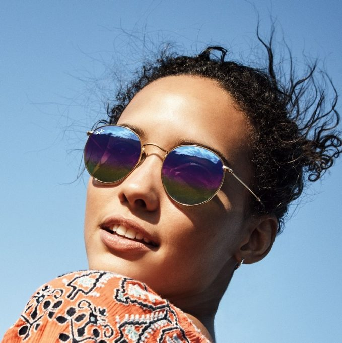 RayBan 53mm Round Sunglasses-