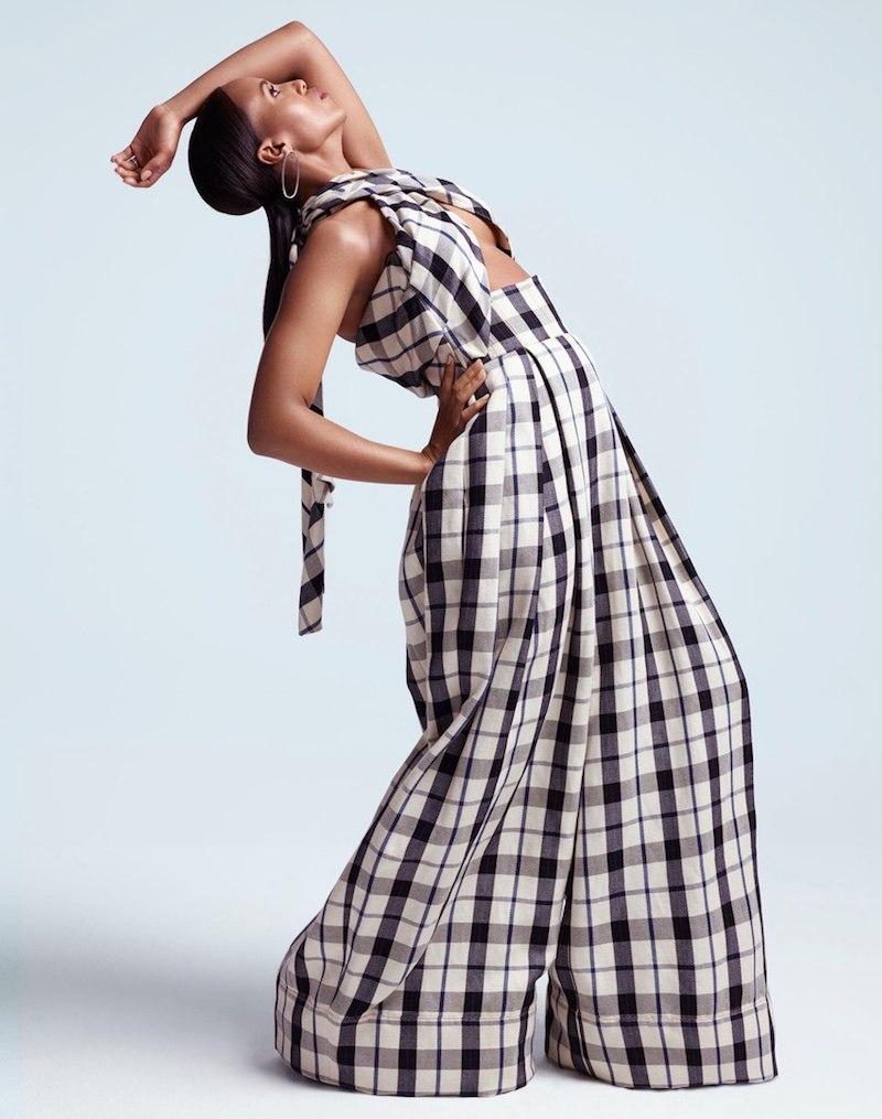 Rosie Assoulin Artichoke Hearts Cutout Checked Cotton and Linen-Blend Jumpsuit