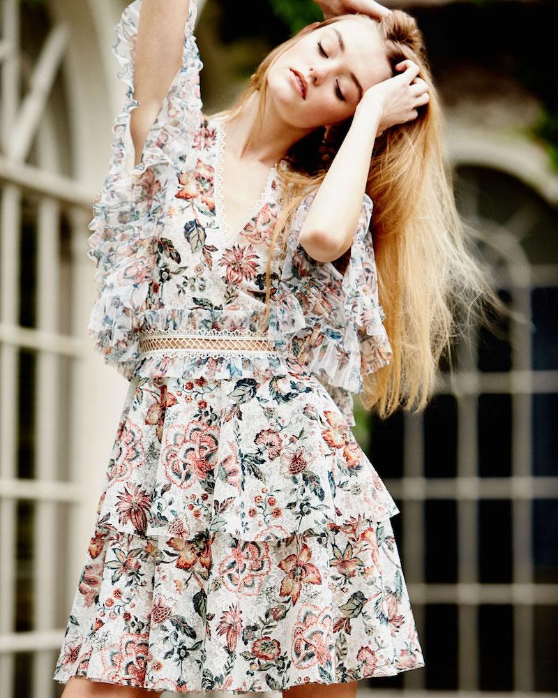 Sachin & Babi Belle Floral-Print Dress