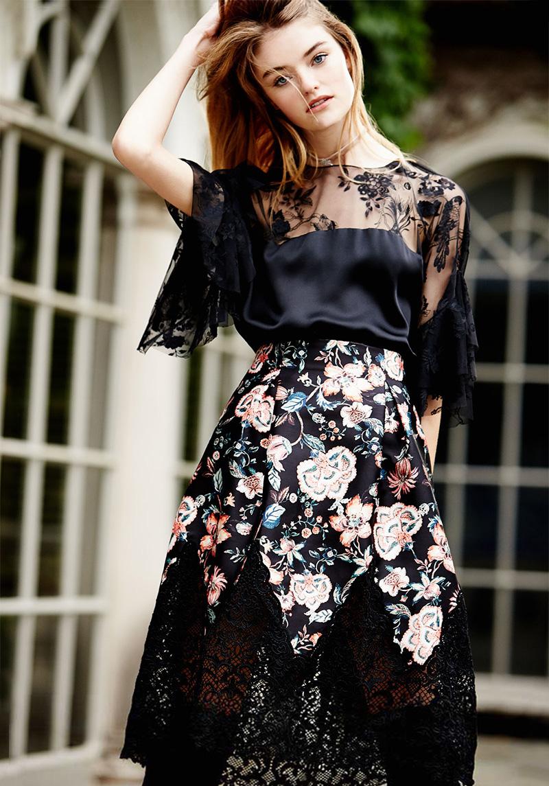 Sachin & Babi Bonnie Floral-Print Full Skirt