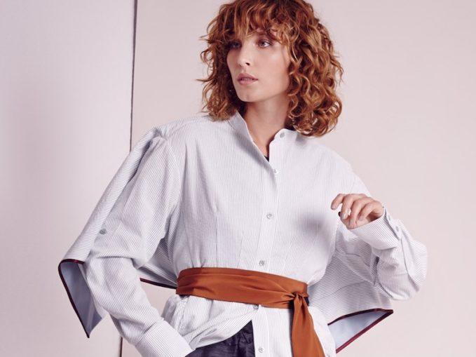 Sies Marjan Ruffled Cotton-Seersucker Shirt