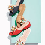 Stuart Weitzman Cupcake Beaded Leather Slide Sandal