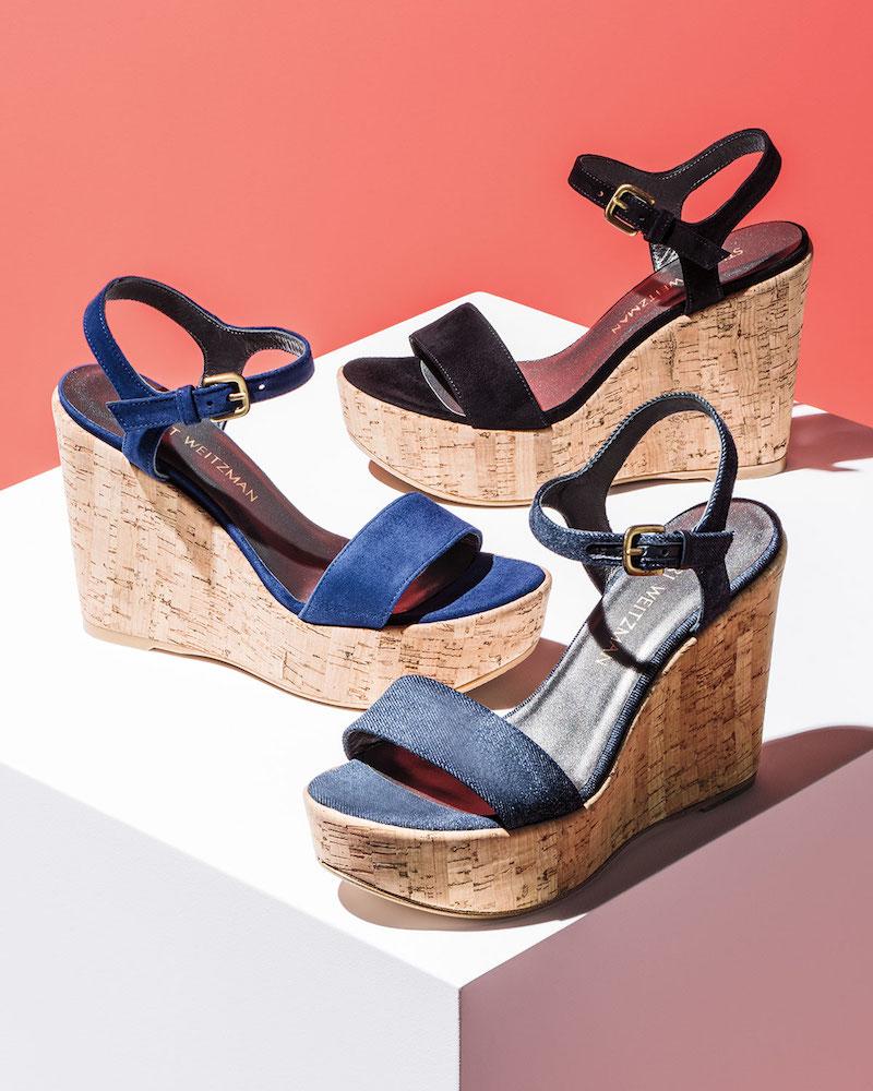 Stuart Weitzman Single Wedge Sandal