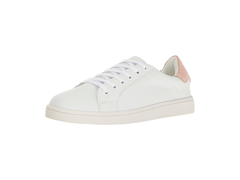 Sugar GINGER Fashion Lace-Up White Sneaker with Memory Foam Insole