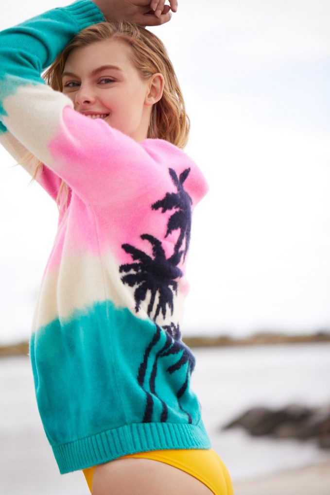 The Elder Statesman Dyed Palm Tree Sweater-