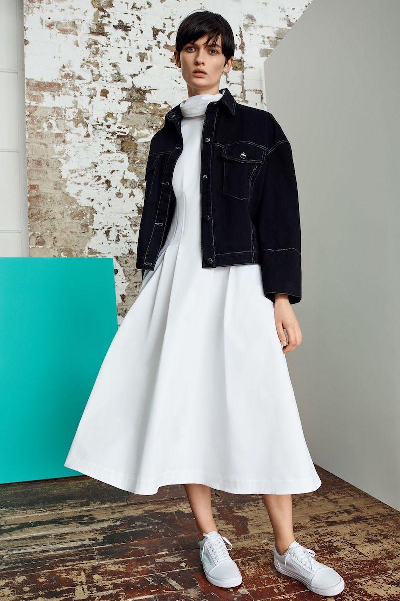 Topshop Boutique Cotton Corset Dress