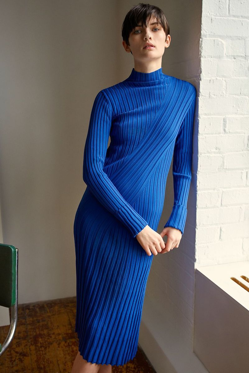 Topshop Boutique Directional Ribbed Dress