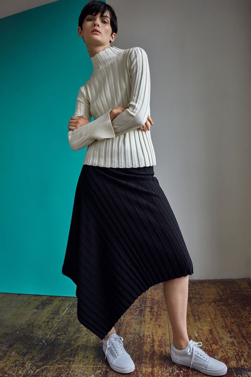 Topshop Boutique Knitted Rib Skirt