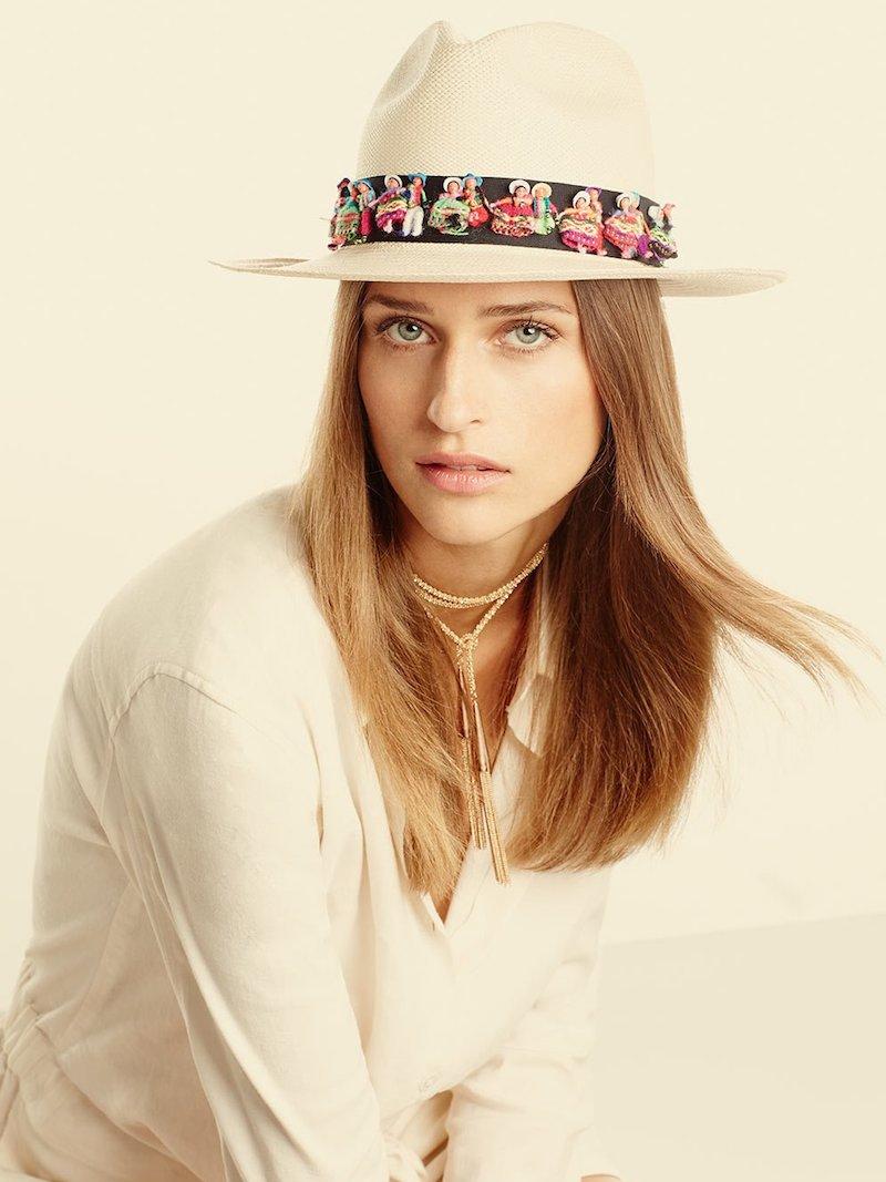 Valdez Panama Maia Straw Fedora Hat