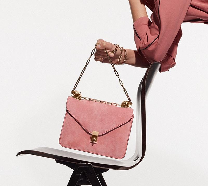 Valentino Panther-embellished suede shoulder bag