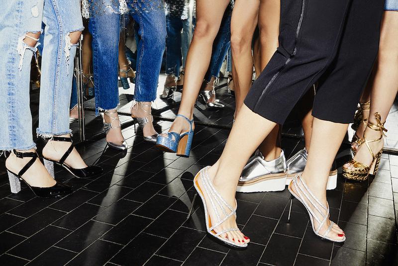 Walter De Silva Glitter Strappy Sandals