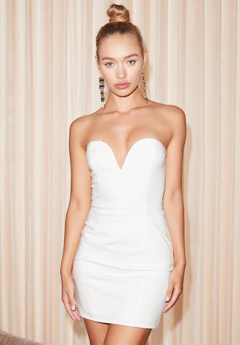by the way. Alessia Sweetheart Bodycon Mini Dress