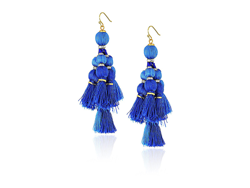 kate spade new york Tassel Statement Drop Earrings