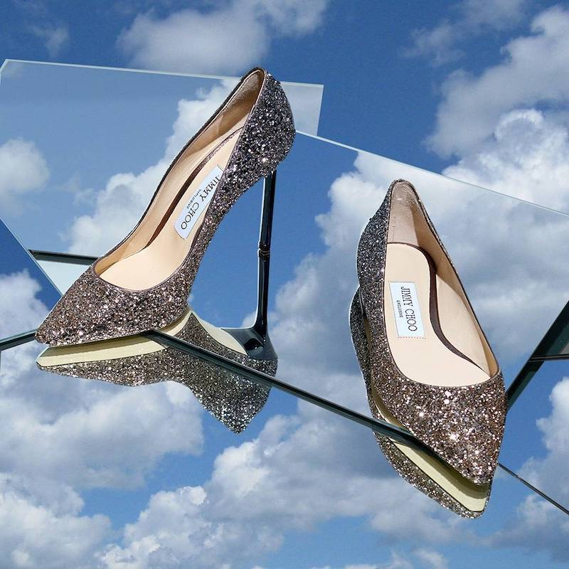 mytheresa.com x Jimmy Choo Glitter Shoes