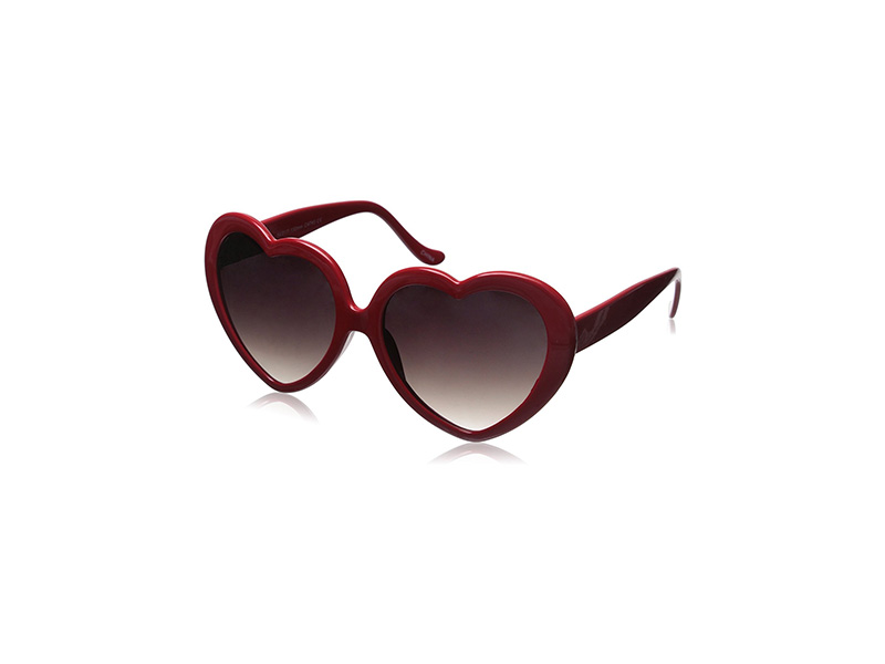 zeroUV Large Oversized Heart Shaped Sunglasses Cute Love Fashion Eyewear